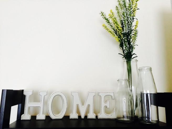 Botes de cristal en casa