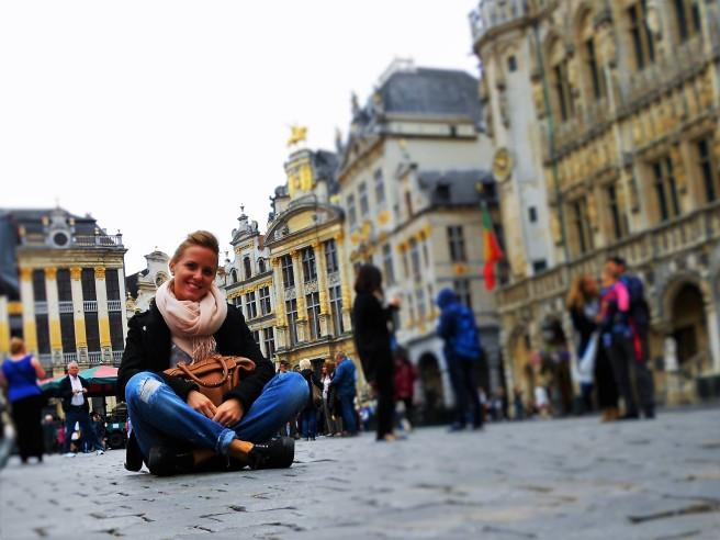 Yo en la Grand Place