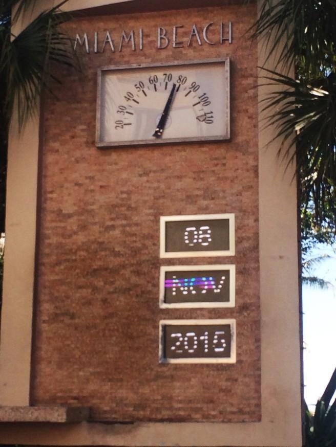 Termómetro Oean Drive Miami Beach