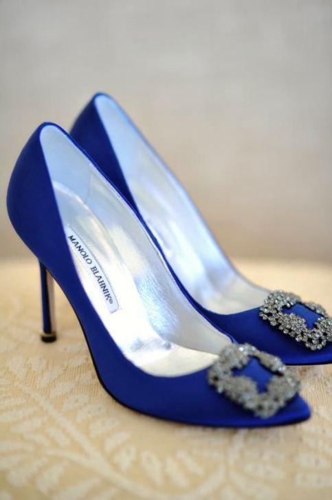 Zapatos Manolo Blahnik azul