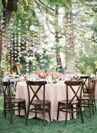 Pajaritas colgantes boda de día jardín