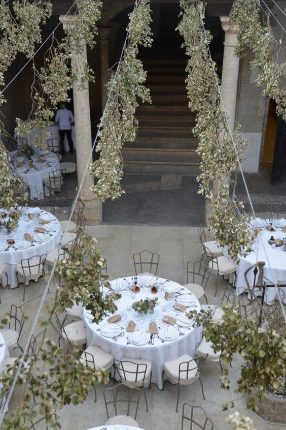 mesa de boda elegante delfin