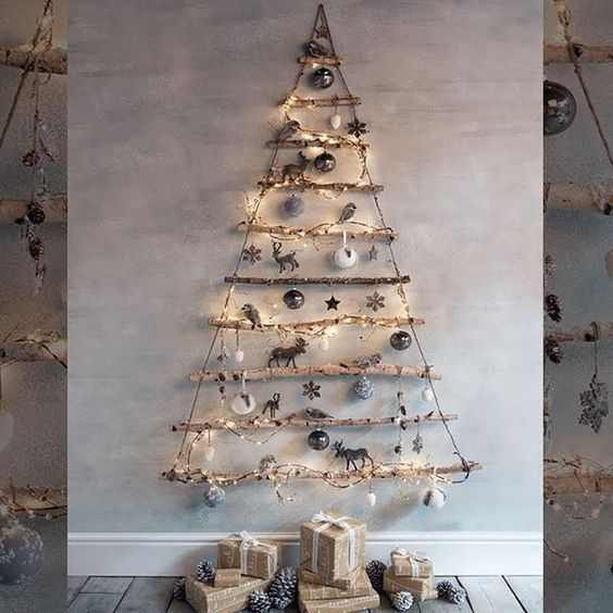 arbol-decoracion-navidena-en-la-pared