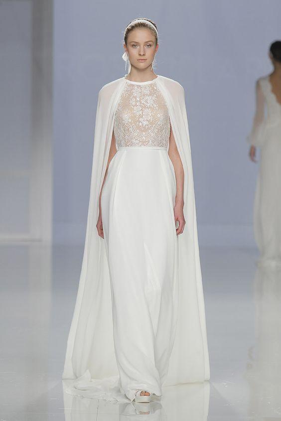 pronovias capa vestido novia