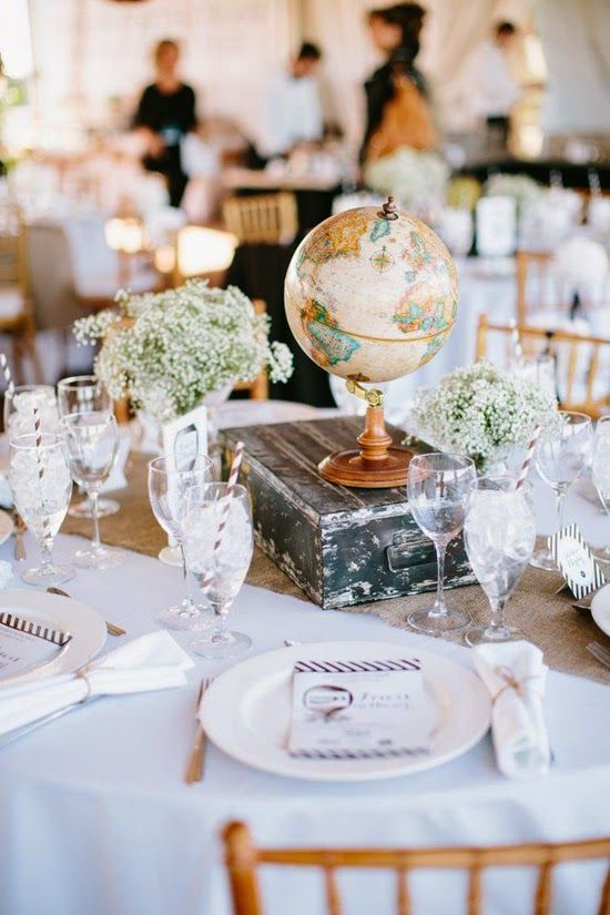centro mesa viaje boda