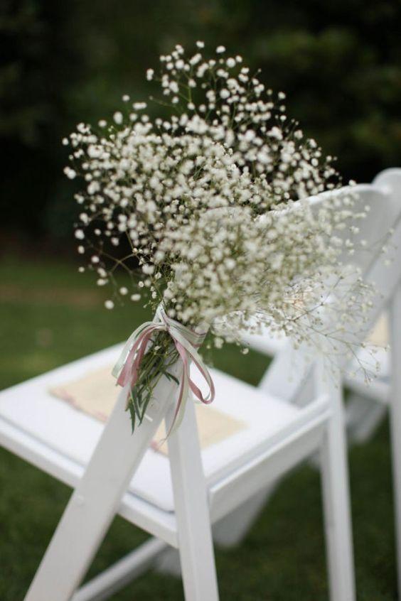 decoración ceremonia flores paniculata boda