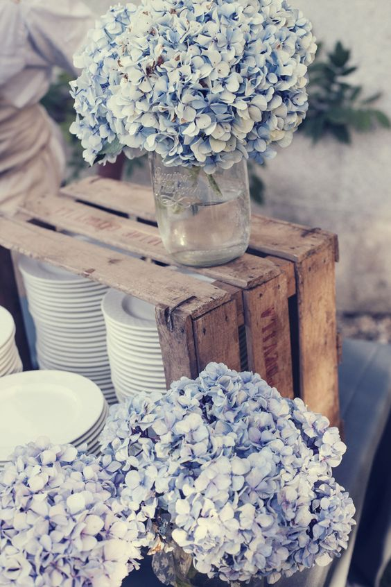 hortensias azules boda
